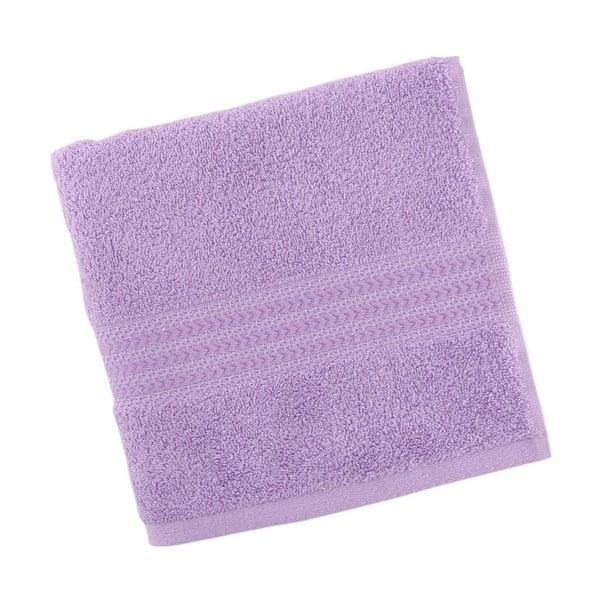 Fialový ručník z čisté bavlny Sunny, 50 x 90 cm