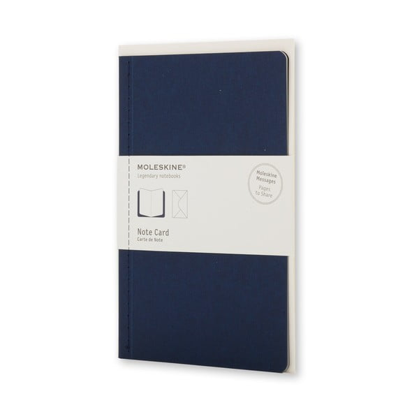 Tmavě modrý dopisní set Moleskine, zápisník + obálka, malý