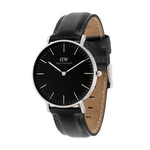 Černé unisex hodinky DanielWellingtonSheffield Silver, ⌀36mm