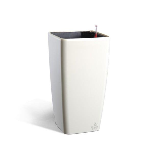Quadrato fehér önöntöző kaspó, magasság33cm - Flower Lover