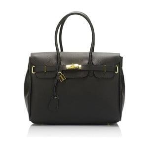 Černá kožená kabelka Giulia Massari Concepta