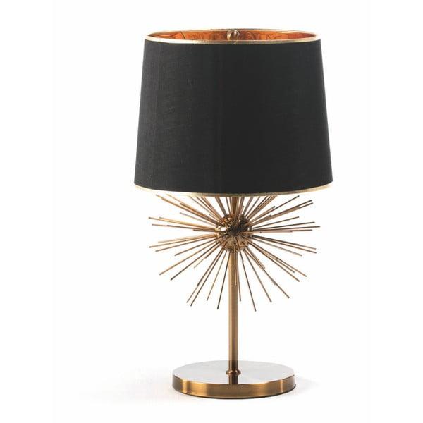 Stolní lampa z kovu v černo-zlatém provedení Thai Natura, 40 x 73 cm