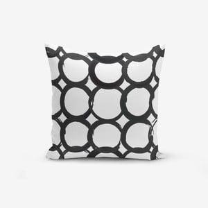 Povlak na polštář s příměsí bavlny Minimalist Cushion Covers Ring Modern BW, 45 x 45 cm