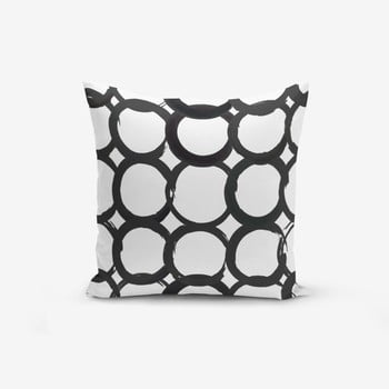 Față de pernă cu amestec din bumbac Minimalist Cushion Covers Ring Modern BW, 45 x 45 cm de la Minimalist Cushion Covers
