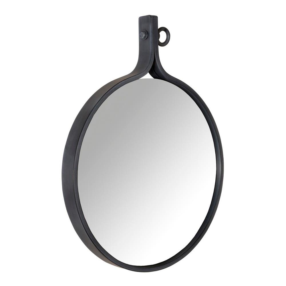 Zrcadlo v černém rámu Dutchbone Attractif, šířka 60 cm