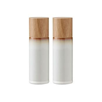 Set 2 râșnițe din gresie ceramică pentru sare și piper Bitz Basics Cream, crem