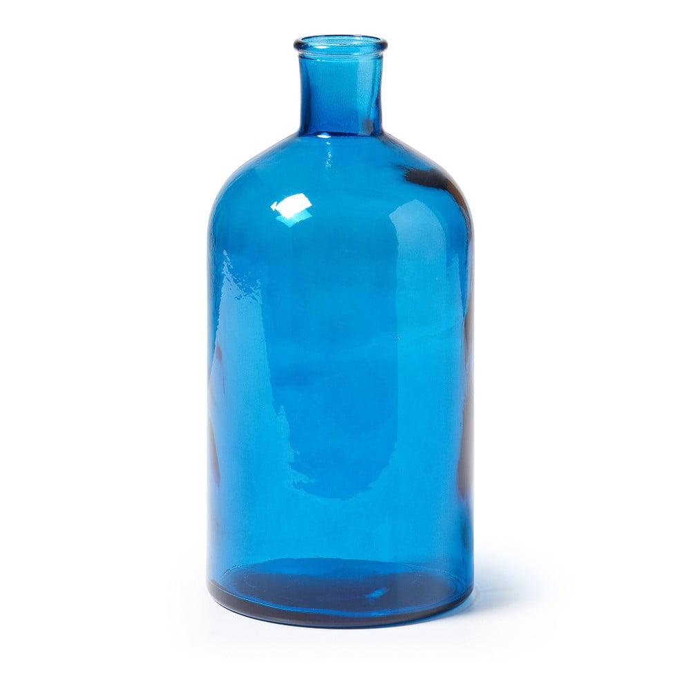 Modrá skleněná váza La Forma Semplice, výška 28 cm