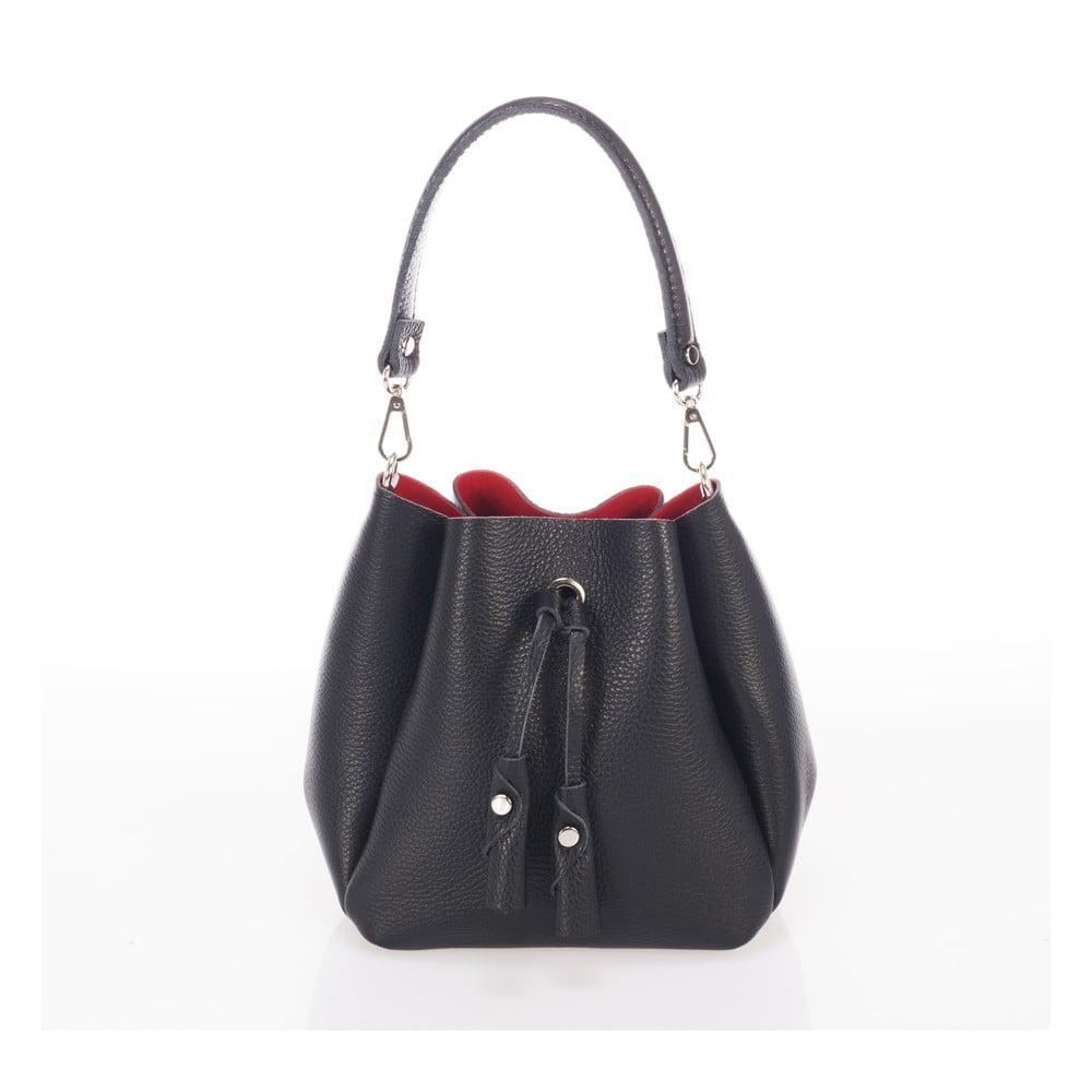 Černá kožená kabelka Giorgio Costa Acca