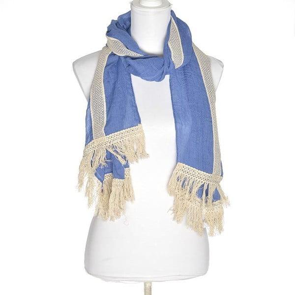 Šátek BLE Inart 70x180 cm, modrý