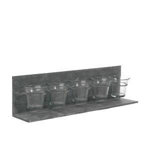 Stojan na 5 čajových svíček Grey