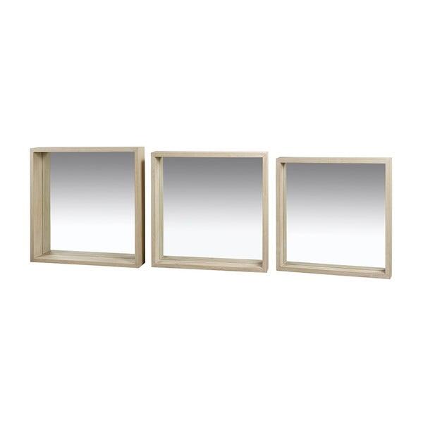 Sada 3 nástěnných zrcadel s rámem ze dřeva paulownia Santiago Pons Jane