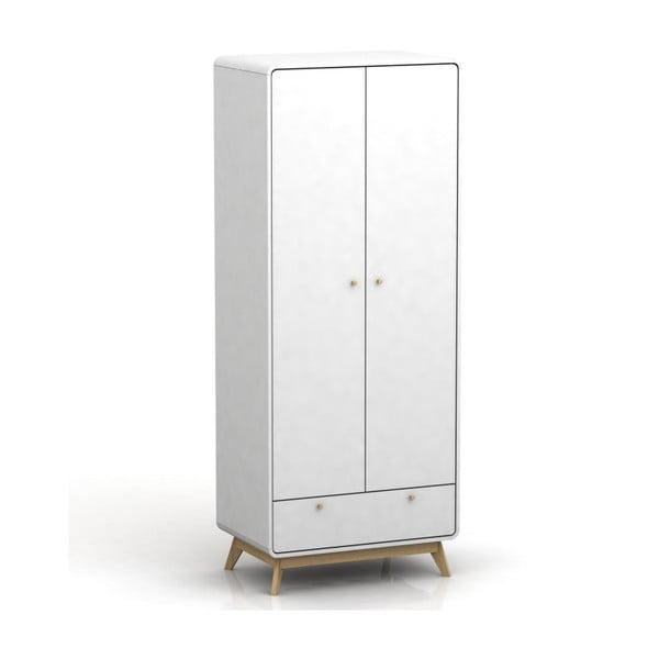 Caitlin fehér 2 ajtós ruhásszekrény - Støraa