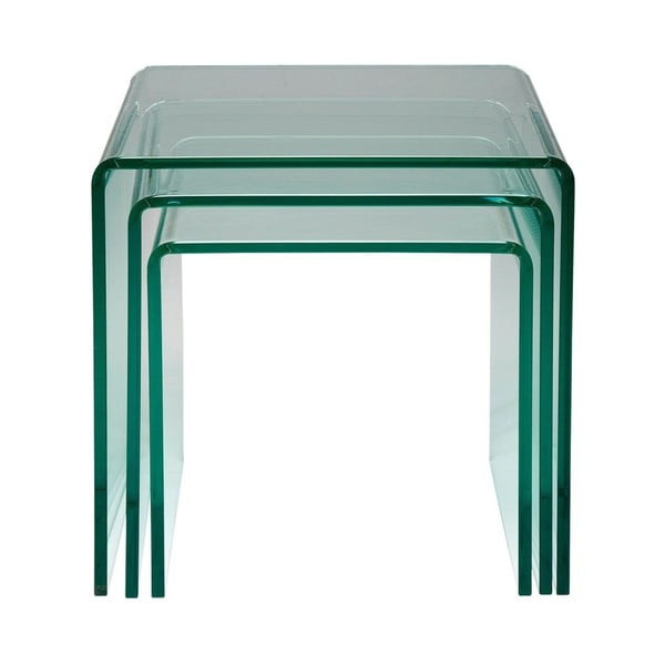 Sada 3 odkládacích stolků Kare Design Clear Club