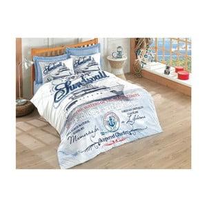 Lenjerie de pat cu cearșaf Harbors, 200 x 220 cm