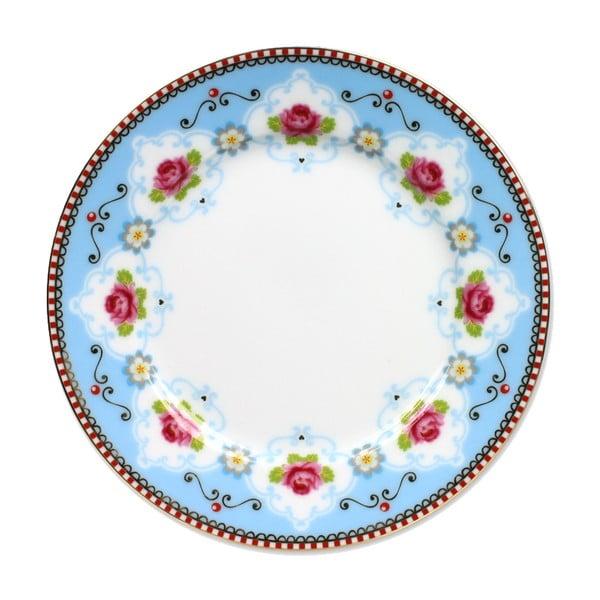 Dezertní talířek Blossom Rose 17 cm, modrý