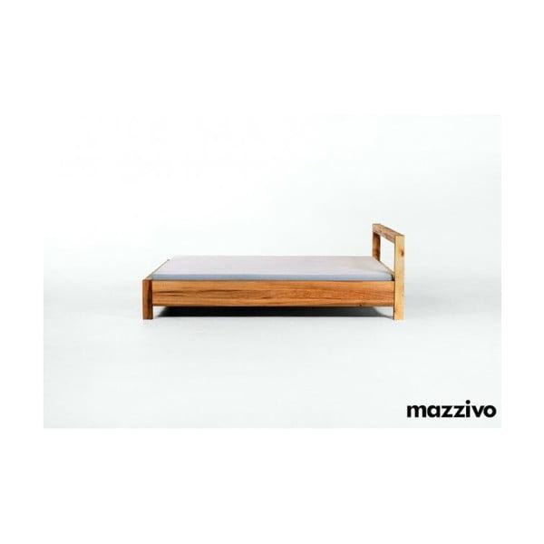 Postel Livigno z olšového dřeva, 140x200 cm, bezbarvý vosk