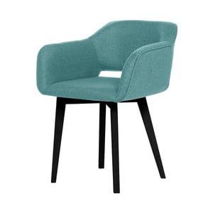 Světle modrá jídelní židle s černými nohami My Pop Design Oldenburg