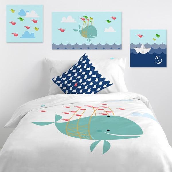 Nástěnný obrázek Whale Ride, 27x54 cm
