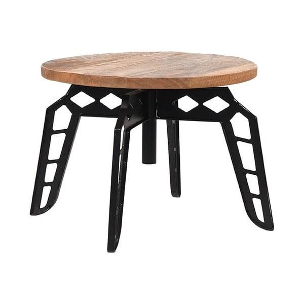 Stolik z blatem z drewna mango LABEL51 Pebble, ⌀60cm