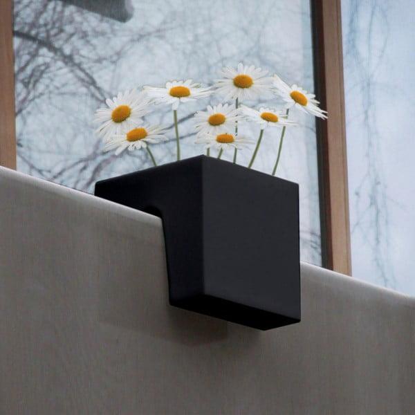 Květináč Steckling Cube, černý