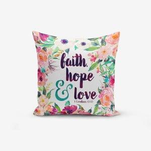 Povlak na polštář s příměsí bavlny Minimalist Cushion Covers Flower Smido, 45 x 45 cm