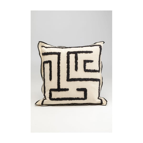Černobílý polštář Kare Design Maze, 45x45cm