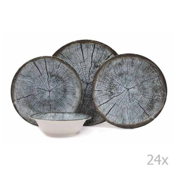 24-częściowy zestaw talerzy porcelanowych Kutahya Caresso