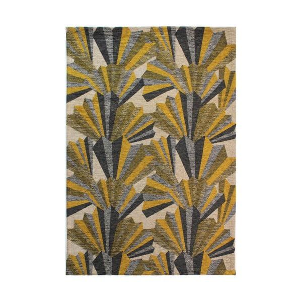 Žluto-šedý ručně tkaný koberec Flair Rugs Fanfare, 120x170cm