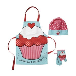 Set dětské zástěry, chňapky a čepice Ladelle Cupcake