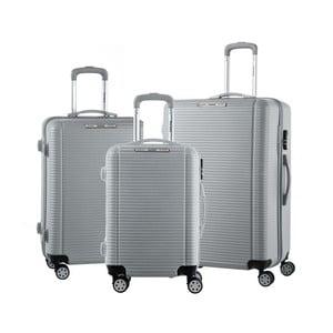 Sada 3 šedých cestovních kufrů na kolečkách Murano Vivienne