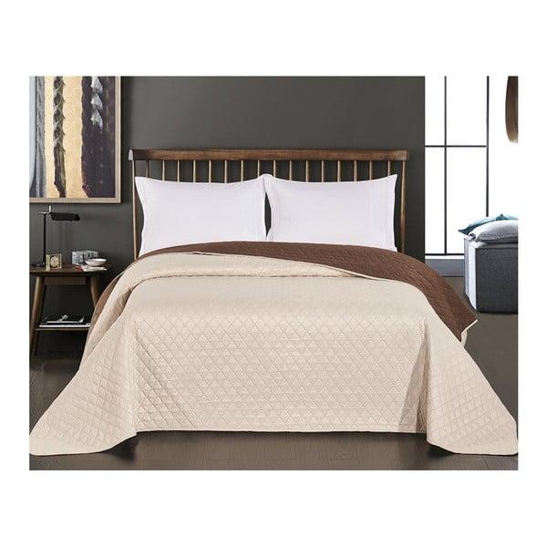 Axel kétoldalas barna-bézs mikroszálas ágytakaró, 240 x 260 cm - DecoKing