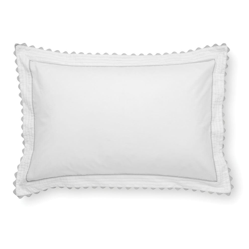 Bílý povlak na polštář z egyptské bavlny Bianca Ric Rac, 50 x 75 cm