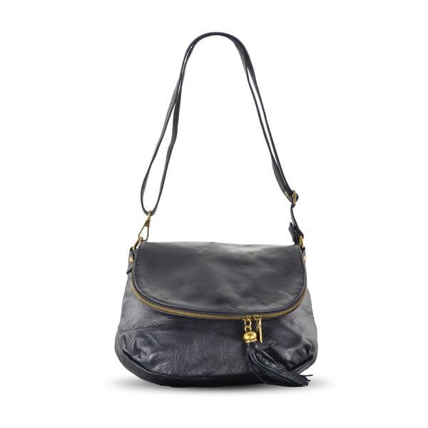 Kožená kabelka Celia, černá