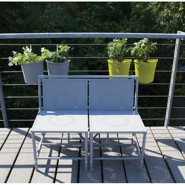 Šedá skládací sestava na balkón Esschert Design Magic