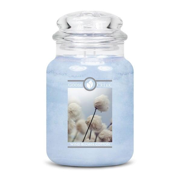 Vonná sviečka v sklenenej dóze Goose Creek Vetrom vyfúkaná bavlna, 150 hodín horenia