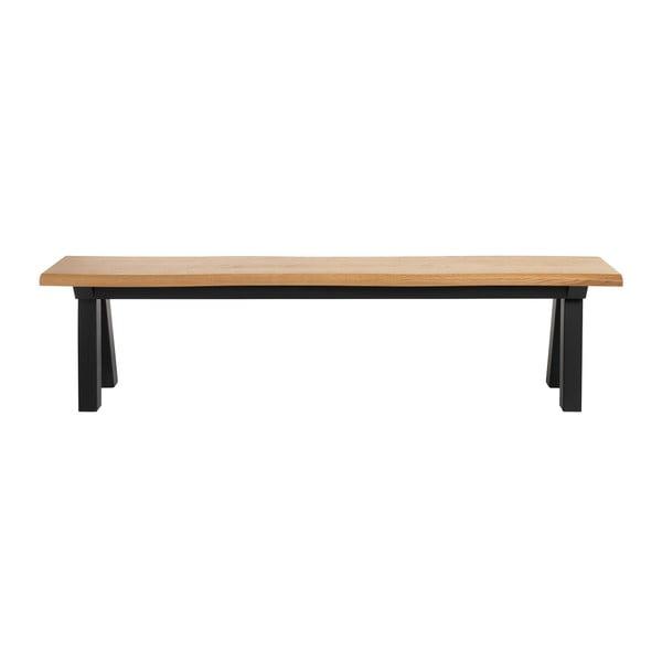 Ławka z drewna białego dębu Unique Furniture Oliveto