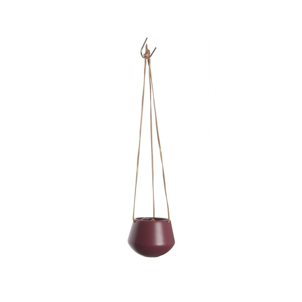 Červený závěsný květináč Present Time Skittle, ⌀ 12,2 cm