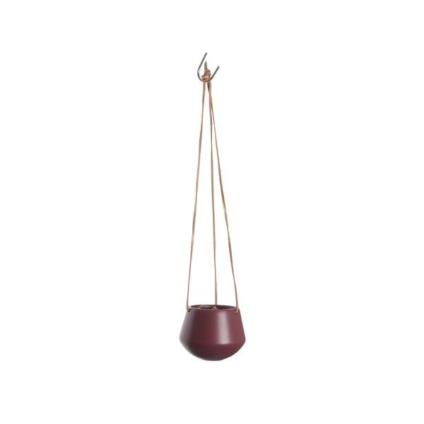 Červený závěsný květináč Present Time Skittle, ⌀ 12,2cm