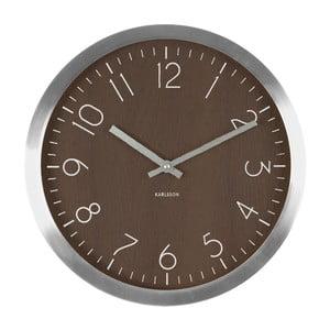 Ceas de perete Present Time Wood Charm XL, maro