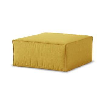 Puf Cosmopolitan Design Miami, 65 x 65 cm, galben muștar imagine