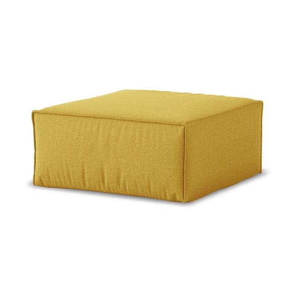 Žlutý puf Cosmopolitan Design Miami, 65 x 65 cm
