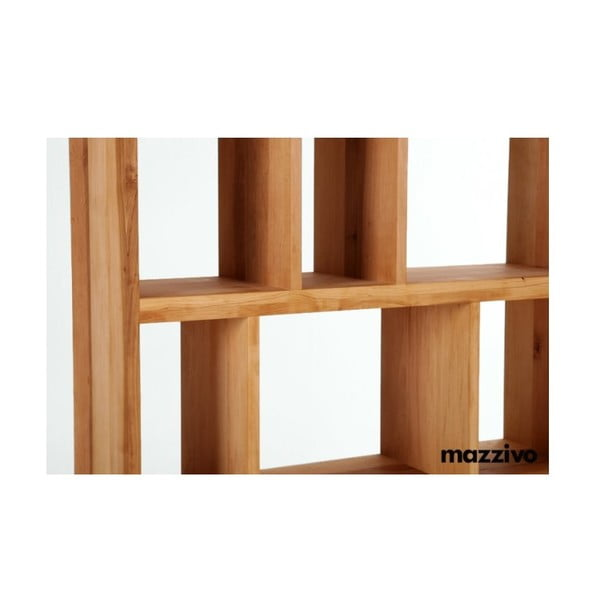 Knihovna z olšového dřeva, R104, bezbarvý vosk