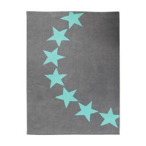 Dětský šedý koberec s modrými detaily koberec Hanse Home Star, 140x200cm