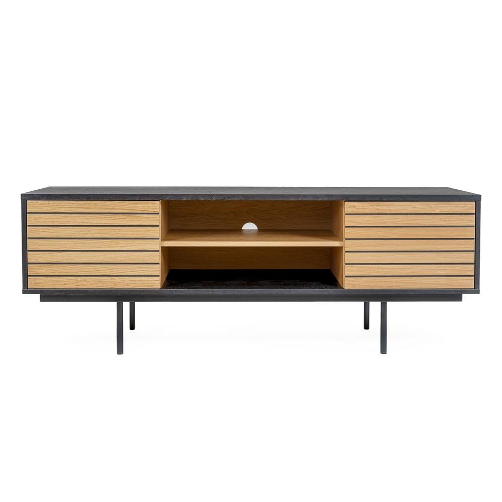 TV stolek z dubového dřeva Woodman Stripe