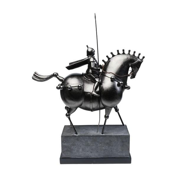 Černá dekorativní sočka jezdce na konci Kare Design Black Knight