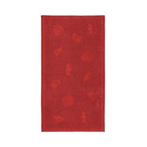 Červená bavlněná osuška Seahorse Shells, 200x100cm