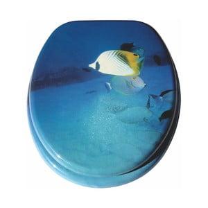 Modré univerzální WC prkénko Valdomo Fish