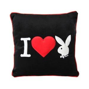 Polštář Playboy I Heart Bunny, 34x34 cm