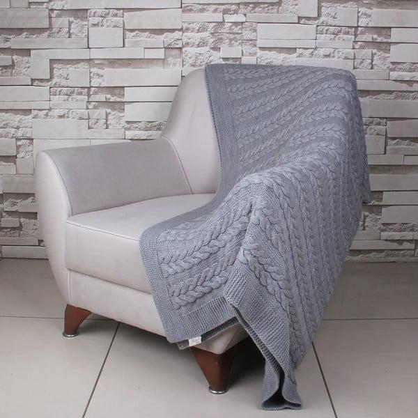 Tmavosivá deka Touta, 170×130cm