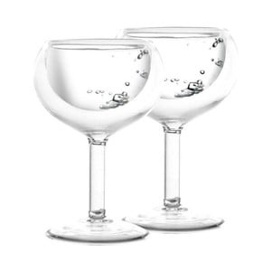 Set 2 pahare cu perete dublu Vialli Design Amo Vodka, 30 ml